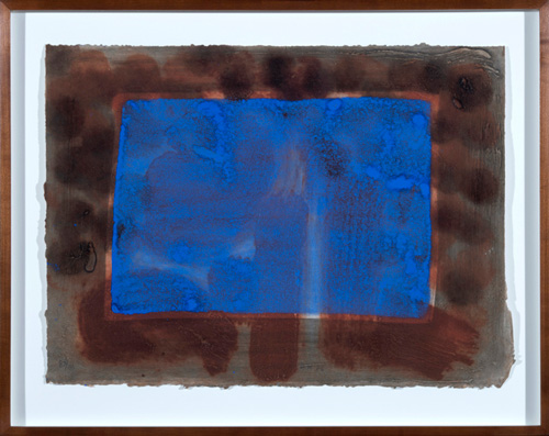 Howard Hodjkin: Blue Listening Ear, 1986, 19 x 26 inches