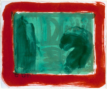 Howard Hodjkin: The Green Room, 1986, 20 x 24 inches