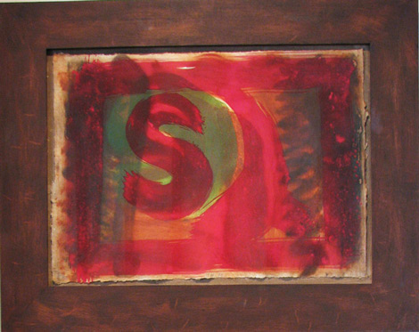 Howard Hodjkin: Red Listening Ear, 1986, 19 x 26 inches